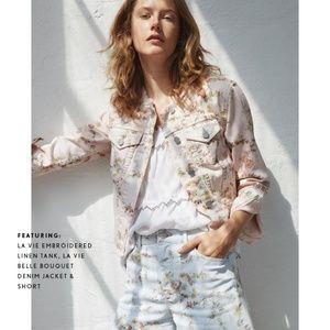 LA VIE Rebecca Taylor • Floral Denim Jacket //LAST